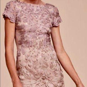 JS Collection Soutache dress. Pink/Sand
